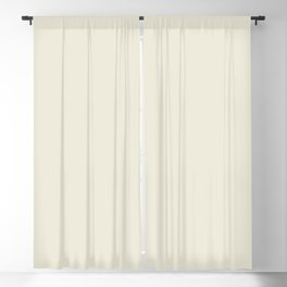 Dark Creamy Off White Solid Color Pairs with Farrow and Ball - James White 2010 - Accent to Arsenic Blackout Curtain