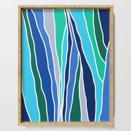 Waterfall Inspired Design // Let Go (Blue and Green) Serving Tray