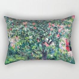 "Gustave Caillebotte ""Arbre en fleur - Flowering tree"" Rectangular Pillow"