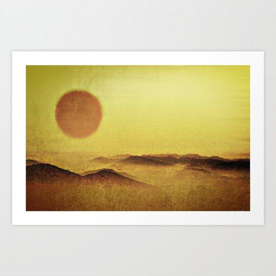When the Sun is Going Down Art Print