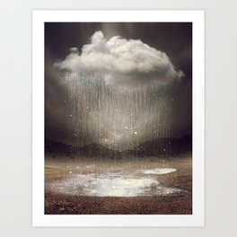 It's Okay. Even the Sky Cries Sometimes. Art Print