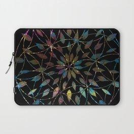 Boho Mandala Flower Splatter Laptop Sleeve
