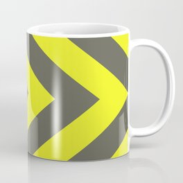Chevrons warning sign Coffee Mug