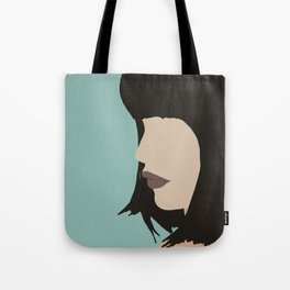 Cara - a modern, minimal abstract portrait of a woman Tote Bag
