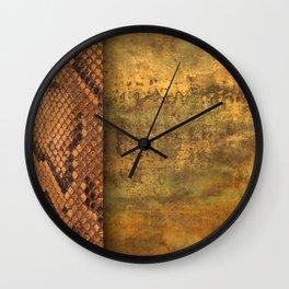 Gold and snake skin Wall Clock