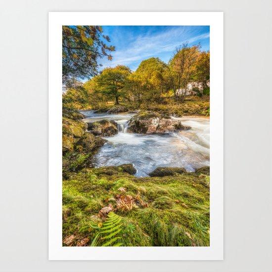Cyfyng Falls Art Print