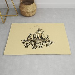 Viking ship 2 Rug