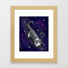 Starry Cat Framed Art Print