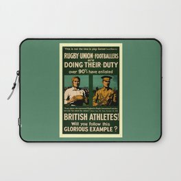 British rugby, football players call for duty Laptop Sleeve