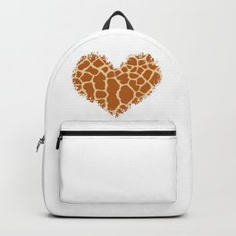 Love Giraffe Print Heart Backpack