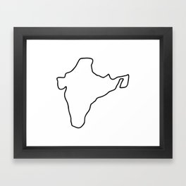 India Indian map Framed Art Print