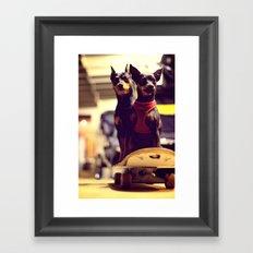 Skaterdogs Framed Art Print