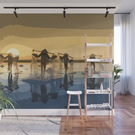 Salt Harvest in Abstract Art Wall Mural