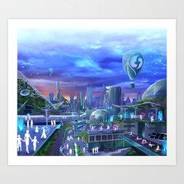 flowtopia Art Print