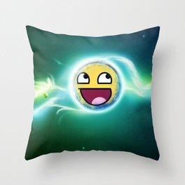 Light smile Throw Pillow