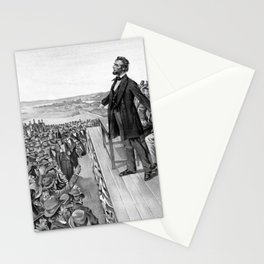 President Lincoln Delivering The Gettysburg Address Stationery Cards
