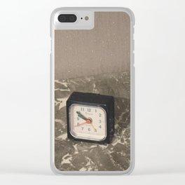 Comme le temps passe... Clear iPhone Case