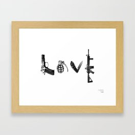 All's Fair in Love and War Framed Art Print