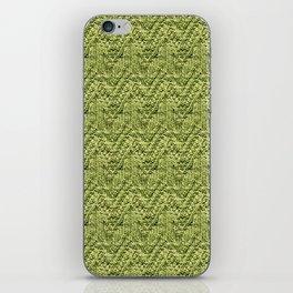 Green Zig-Zag Knit iPhone Skin