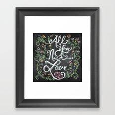 All You Need is Love Chalkboard Art Framed Art Print