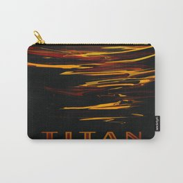Titan : NASA Retro Solar System Travel Posters Carry-All Pouch