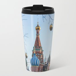 Moscow city in christmas Travel Mug