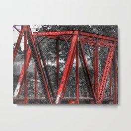 Old Train Bridge Metal Print