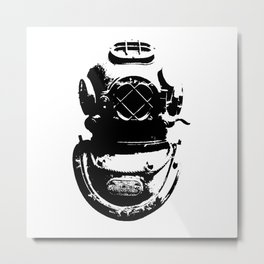 Diving Helmet Metal Print