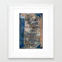 books Framed Art Prints featuring Books by Dora Birgis