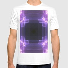 Shades of Purple White MEDIUM Mens Fitted Tee