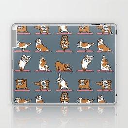 English Bulldog Yoga Laptop & iPad Skin