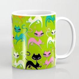 Prancing Kittens on Lime Coffee Mug