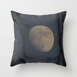 Moon at Three-Quarters Throw Pillow