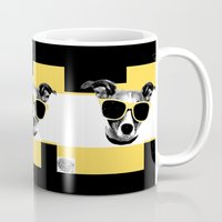 jack russell Mugs featuring Jack Russell by Touch-art