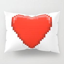 Retro Video Game Heart Pixel Art Pillow Sham