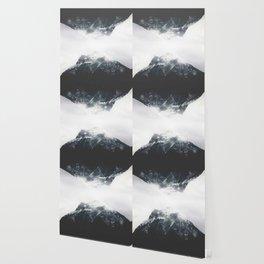 reflect / mountain reflection in black&white / adventure artprint Wallpaper