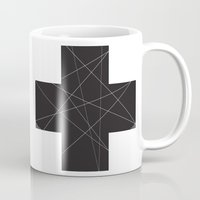 cross Mugs featuring Cross by hyun yu