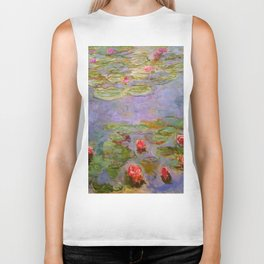 "Claude Monet ""Red Water Lilies"", 1919 Biker Tank"