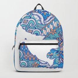 batik culture on garuda silhouette illustration Backpack