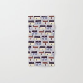 Houses Village Vector Pattern Repeat Seamless Background Hand & Bath Towel