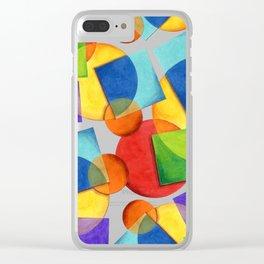 Candy Rainbow Geometric Clear iPhone Case
