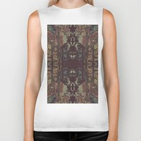 bohemian Biker Tanks featuring Bohemian Square by Jane Lacey Smith