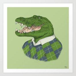 Argyle Crocodile Art Print