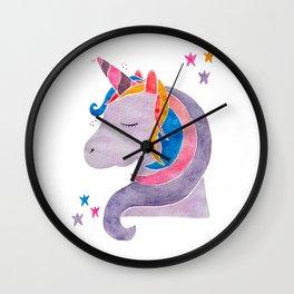MAGICAL DREAMING UNICORN Wall Clock