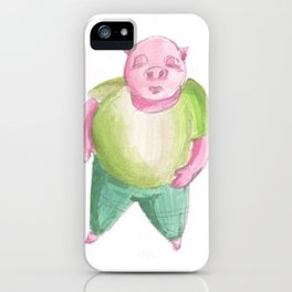 Mr. Smug-Face Pig iPhone Case