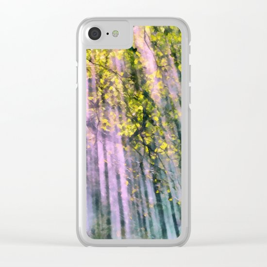 Forest light Clear iPhone Case