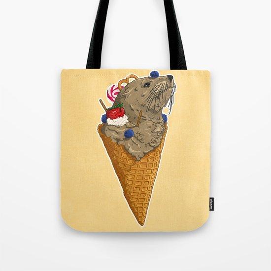 Brown Seal Ice Cream Tote Bag