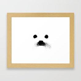 Seal your face Framed Art Print