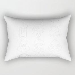 Heros - Black Rectangular Pillow