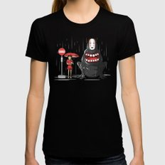 My Hungry Neighbor MEDIUM Womens Fitted Tee Black